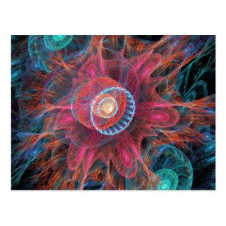 Abstract Jellyfish Postcard