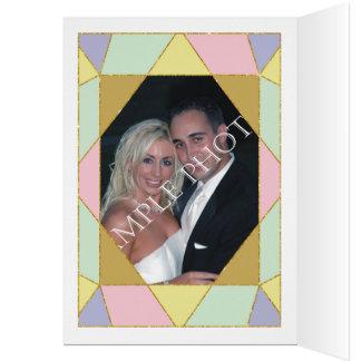 Abstract jewel modern wedding Thank You photo Card
