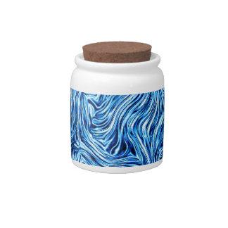 abstract joy,ice-metallic, blue candy jars