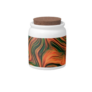 abstract joy, red candy jars