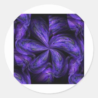 Abstract.jpg floral violeta pegatina redonda