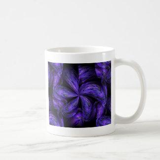 Abstract.jpg floral violeta taza básica blanca