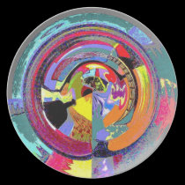 Abstract Jug with Colors plates