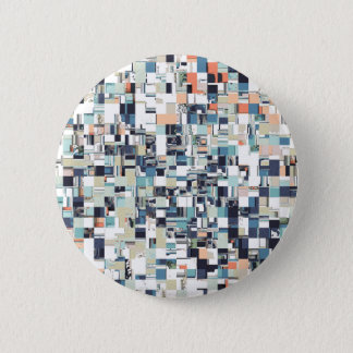Abstract Jumbled Mosaic Button