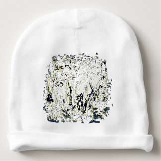 abstract jungle baby beanie