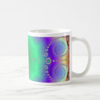 Abstract Kaleidescope Hippie Spiral Fractal Patter Coffee Mugs