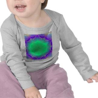 Abstract Kaleidescope Hippie Spiral Fractal Patter Tshirts