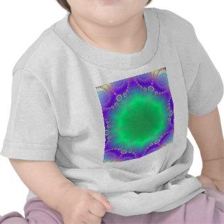 Abstract Kaleidescope Hippie Spiral Fractal Patter Shirts
