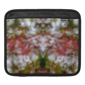 Abstract kaleidoscope figure and faces iPad sleeves