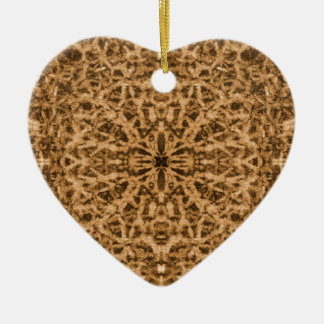 Abstract kaleidoscope fur pattern ceramic ornament