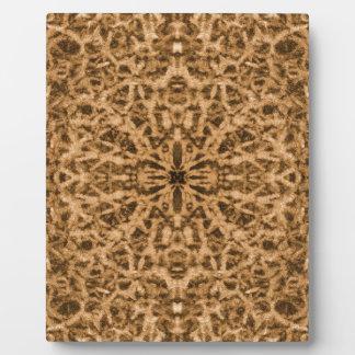 Abstract kaleidoscope fur pattern plaque