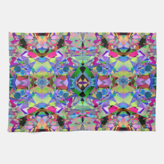Abstract Kaleidoscope Pattern Hand Towels