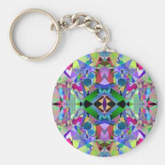 Abstract Kaleidoscope Pattern Key Chain