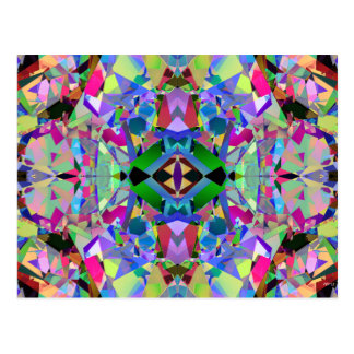 Abstract Kaleidoscope Pattern Post Cards