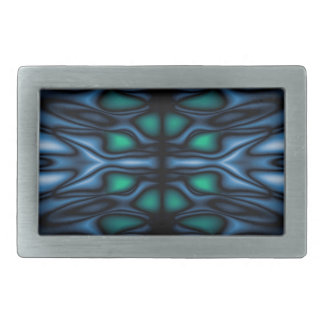 Abstract kaleidoscope pattern rectangular belt buckle