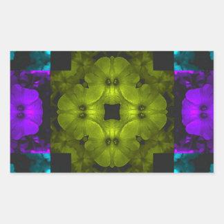 abstract kaleidoscope petunia flowers 1.jpg rectangular sticker
