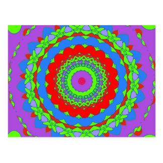 Abstract Kaleidoscopes Postcard