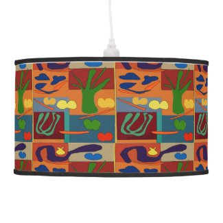 Abstract Kitchen Vegetables Pendant Lamp