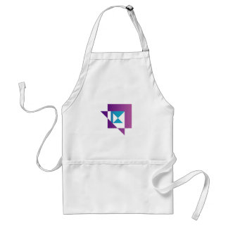 Abstract kite shaped graphic apron