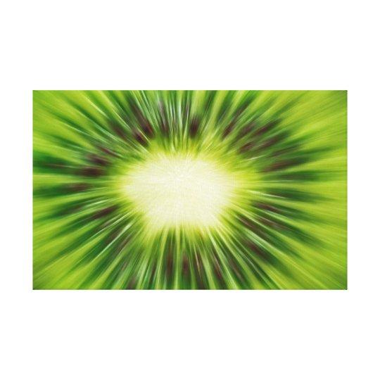 Abstract Kiwi Canvas Print