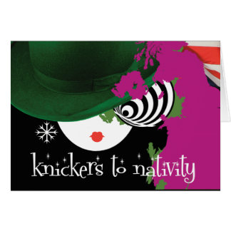 Abstract 'Knickers to Nativity' Christmas Card