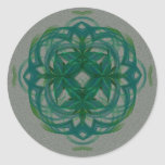 Abstract Knotwork Classic Round Sticker