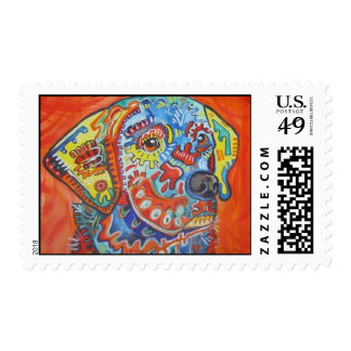 Abstract Lab Postage Stamps