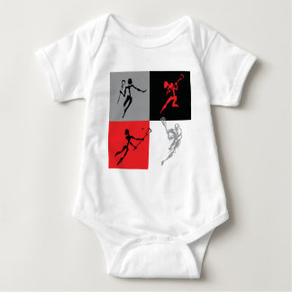 Abstract Lacrosse Baby Bodysuit