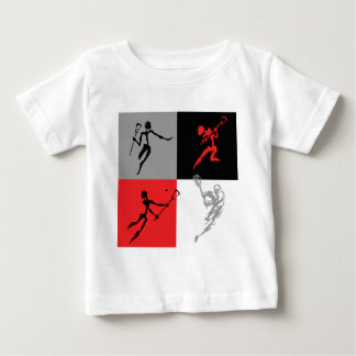 Abstract Lacrosse Baby T-Shirt