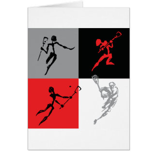 Abstract Lacrosse Card