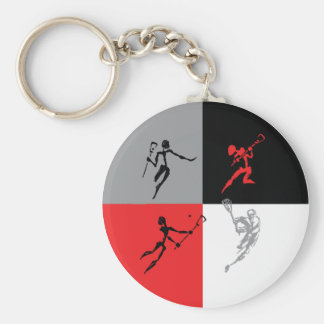 Abstract Lacrosse Keychain