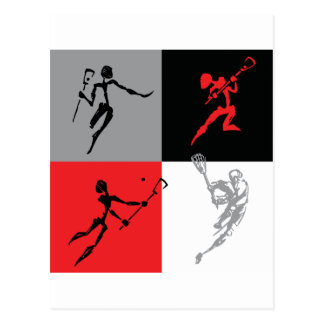 Abstract Lacrosse Postcard