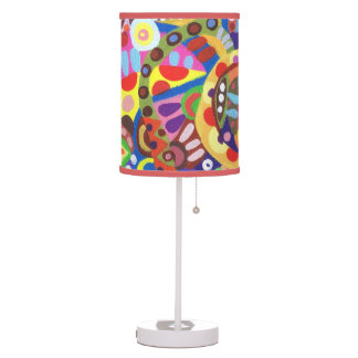 Abstract Lamp - Groovy Colorful Lampshade