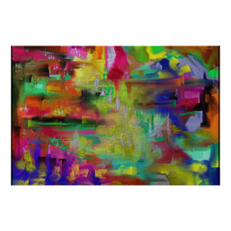 Abstract Land Poster