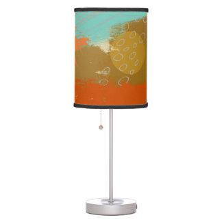 Abstract Landscape Art Paint Circles Spheres Desk Lamp