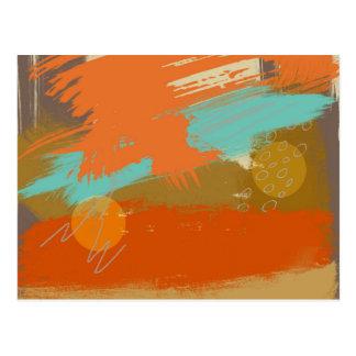 Abstract Landscape Art Paint Circles Spheres Postcard