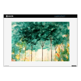 """Abstract Landscape Art Trees Forest Painting 15"""" Laptop Decal"""