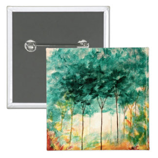 Abstract Landscape Art Trees Forest Painting Button