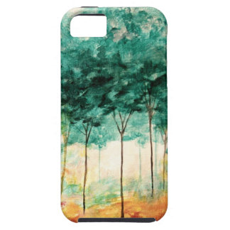 Abstract Landscape Art Trees Forest Painting iPhone 5 Case