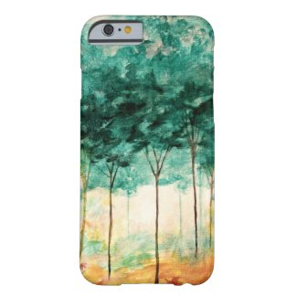 Abstract Landscape Art Trees Forest Painting Barely There iPhone 6 Case