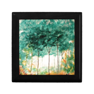 Abstract Landscape Art Trees Forest Painting Gift Box