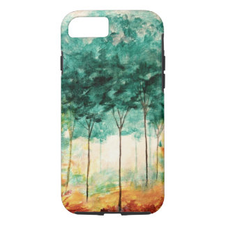 Abstract Landscape Art Trees Forest Painting iPhone 8/7 Case