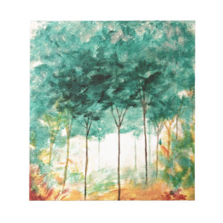 Abstract Landscape Art Trees Forest Painting Notepad