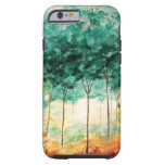 Abstract Landscape Art Trees Forest Painting Tough iPhone 6 Case
