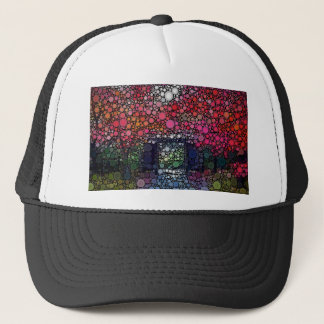 Abstract Landscape Circles Bubbles Modern Art Trucker Hat
