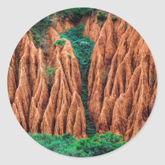 Abstract landscape. classic round sticker