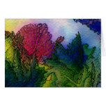 Abstract Landscape in Watercolors - Foggy Sunrise Cards