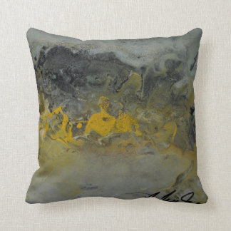 Abstract Landscape in yellow - Throw Pillow