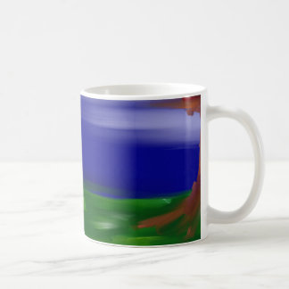 abstract landscape mugs