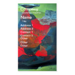 Abstract Landscape of Potosi Bolivia 21.9 x 27.6 Business Card